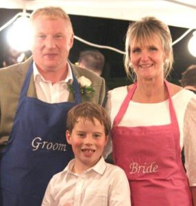 Phil, Sue and Matthew, The Travelling Pig family hog roast company